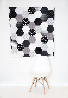 """Maybe the title of today's post should be """"don't fear the hexagons in quilting!"""" Learn how to sew hexagons with a sewing machine."""