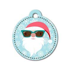 Santa Claus Holiday Dog Tag #holidays #dogtagsfordogs #pettags #dogaccessories #dogfashion #dogs #pets #etsy #etsyfinds #santa #christmas #dogtags