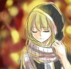 She's wearing Natsu's scarf :,) happiest moment of mi lurf