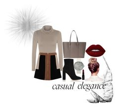 """""""Casual elegance """" by dkslife on Polyvore featuring Gianvito Rossi, Lime Crime, Smashbox and WearAll"""