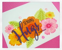 #onmyblog #thequeensscene #card #cardmaking #papercrafts #stamping #hugs #pti #papertreyink #bighugs #bloomers