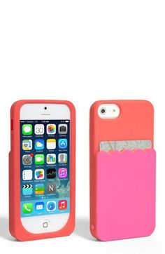 kate spade new york 'scallop pocket' cardholder iPhone 5 & 5s case available at #Nordstrom  ***either color is cute