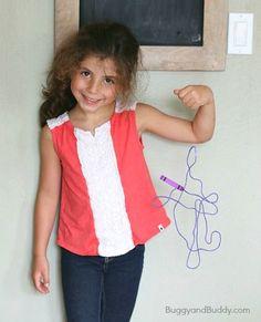 Purple Yarn Art for Kids (Inspired by Harold and the Purple Crayon)~ BuggyandBuddy.com