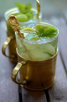 Munich Mule Gin cucumber mint ginger ale