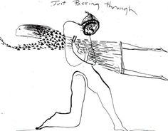 """""""Just Passing Through"""" I've been looking for this picture everywhere; one of Jude's artwork from Across the Universe <3"""