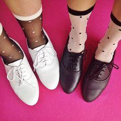 The Sheer Patterned Sock.