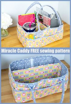 Small Sewing Projects, Sewing Projects For Beginners, Sewing Hacks, Sewing Tutorials, Diy And Crafts Sewing, Fabric Crafts, Sewing Ideas, Bag Patterns To Sew, Sewing Patterns Free