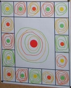 This year, Kindergartens have observed different works and worked different forms. First, the rounded shapes with the round and the spiral . Pre Writing, Writing Skills, Kindergarten Lesson Plans, Preschool Art, Elements Of Art, Elementary Art, Fine Motor, Art School, Art Lessons