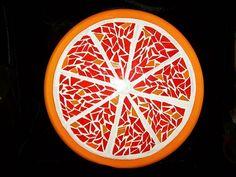 mosaic lazy susan. Orange design