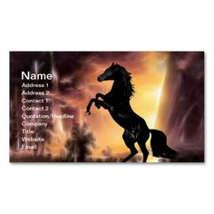 Friesian Stallion rearing business cards