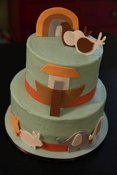 the cake box: Noah's ark baby shower cake