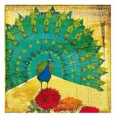 peacock instinct 7x7 art print