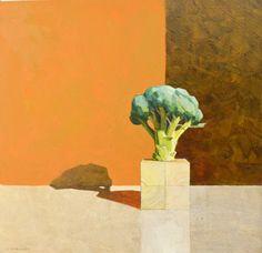 'Broccoli tree after Euan Uglow' Oil on board - James Stewart - 2016