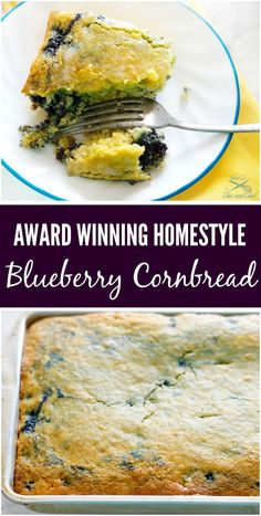 A blue ribbon homestyle blueberry cornbread recipe, that is super simple and delicious. The trick to this blueberry cornbread is using the right blueberries , wild Maine low bush! Jiffy Recipes, Jiffy Cornbread Recipes, Cornbread Casserole, Casserole Recipes, Skillet Recipes, Blueberry Cornbread, Blueberry Recipes, Best Breakfast, Breakfast Recipes