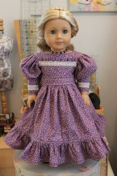 1830's Style Dress with Gigot Sleeve and by ForAllTimeDesigns