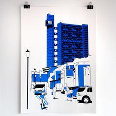Image of Trellick Tower screen print