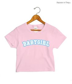 BABYGIRL  cropped t-shirt pink crop top babygirl princess
