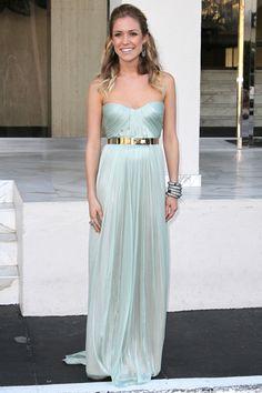 Love the mint dress w gold belt