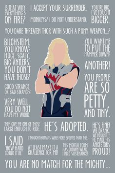 The God of Thunder: movie quotes