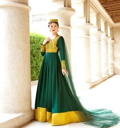 #green #afghani #dress #style #afghan #jewelry