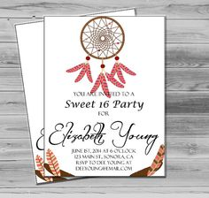 Hey, I found this really awesome Etsy listing at https://www.etsy.com/listing/184694157/boho-sweet-16-party-invitation-sweet-16