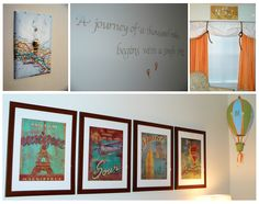 The inspiration:  Nick's travel-themed room