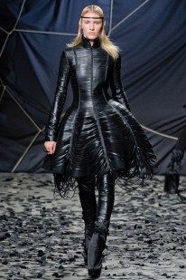 Black on Black – Gareth Pugh delivered his signature gothic style for his namesake label's fall 2012 collection presented during Paris Fashion Week. Romantic Period, Gareth Pugh, Gothic Fashion, Fall, Image, Collection, Black, Style, Autumn