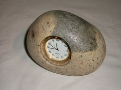 Stone clock. $38.00, via Etsy.