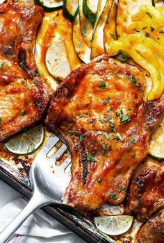 Sheet Pan Recipes: 17 Sheet Pan Meals For Easy Weeknight Dinners — Eatwell101 Quick Recipes, Pork Recipes, Keto Recipes, Keto Foods, Best Pork Chop Recipe, Delicious Dinner Recipes, Keto Meal Plan, Keto Dinner, Food Dishes