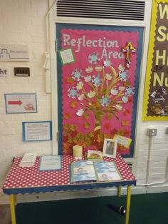 reception class reflection area reflection table reflection tree eyfs foundation stage classroom re
