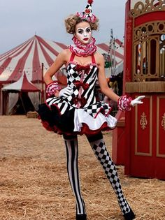 Our Top Ten Halloween Picks from Age of Intimacy HQ: Bonjour! A cute, original costume for this halloween could be a Harlequin clown. Don face paint, geometric stockings and a clash of prints to be convincing.