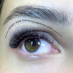 Beautiful 5D Russian Volume Cat Eye by our very talented Master Trainer Darja!