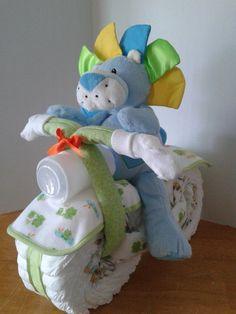 Diaper Motorcycle with Driver  Baby Shower Gift by 2CuteDesignsLS, $50.00
