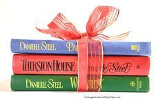 Danielle Steel books, colorful book collection at #VintageVenturesShop #Etsy to buy click image #ShabbyChicDecor #FixerUpper #Farmhouse #BookBundle #DecorativeBooks #WeddingDecoration #WeddingCenterpieces #WeddingBooks #DanielleSteel #VintageBooks #FictionBooks #ColorBooks #PrimaryColorsBooks #BookShelfDecor #GiftForHer #BookLover #BookWorm #bookdecor
