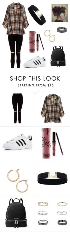 """Untitled #312"" by fashion-with-dudette on Polyvore featuring New Look, Bobeau, adidas, Kylie Cosmetics, Nordstrom, MICHAEL Michael Kors and Miss Selfridge"
