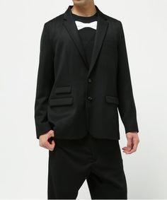 GANRYU Men's(ガンリュウ メンズ)の2016SS ウールギャバジンテーラードジャケット(テーラードジャケット)|ブラック ¥50,760税込 サイズ着丈肩幅身幅そで丈重量(g) SMALL70.540.55562580 素材:毛100% 原産国:日本製 問い合わせ番号:EQ-J015-051(店舗)