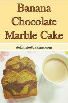 Chocolate Banana Marble Cake / Marbled Banana Bread : Eggless, Moist, Healthy and a perfect tea time snack.