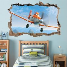 $8.99 - Dusty Planes Movie Smashed Wall Decal Removable Graphic Wall Sticker Disney H190 #ebay #Home & Garden