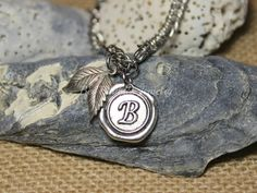 MOTHERS DAY GIFT - Hand Stamped Jewelry - Hand Stamped Pendant Bracelet - Personalized Bracelet - Wax Seal Jewelry