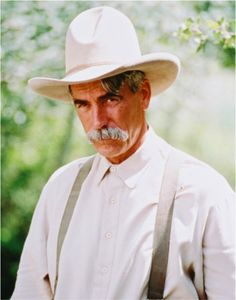 """Western superstar Sam Elliot is the benchmark to which all other Western stars should be judged. Samuel Pack """"Sam"""" Elliott (born August 9, 1944) is an American actor. His rangy physique, thick horseshoe moustache, deep, resonant voice, and Western drawl lend to frequent casting as cowboys and ranchers."""