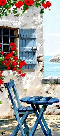 طبیعتی زیبا در دل نقاشی رنگ و روغن