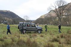 Blind-fold Land Rover Challenge in the spectacular surroundings of the Elan Valley