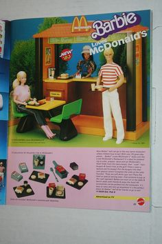 Vintage Barbie Loves McDonald's playset-All of my dolls worked there for minimum wage. One of my favorite toys as a child!