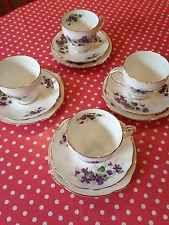Duchess Bone China Violet Tea Cups, Saucers,Tea Plates Vintage Wedding