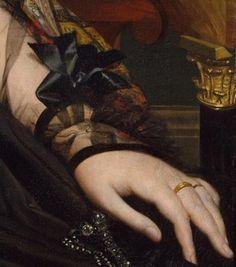 Madame Françoise Poncelle (detail), Jean-Auguste-Dominique Ingres,1823