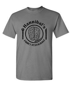Graphic make a tee shirt HANNIBALS FAMILY RESTAURANT lambs cannibal - Mens Cotton T-Shirt Stretch make custom t shirts