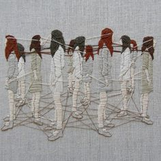 Holy crap! Yarn and stuff! • nevver:   Stitchwork, Michelle Kingdom Art