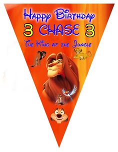 Lion King Printed Banner, Lion King Birthday, Lion King, Jungle Party