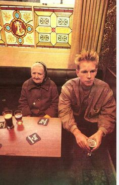 Andy Fletcher from Depeche Mode, Dublin Pub, 1983.