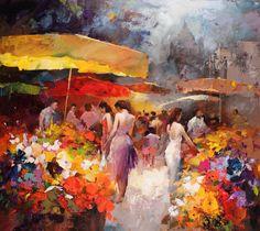 fleurs peinture et photo | Création Willem Haenraets
